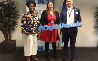 Bristol representatives at iCapital Awards presentation